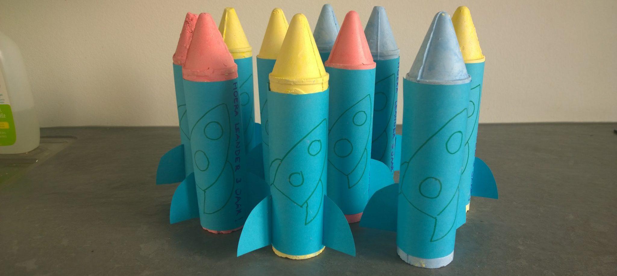 stoepkrijt traktatie raket