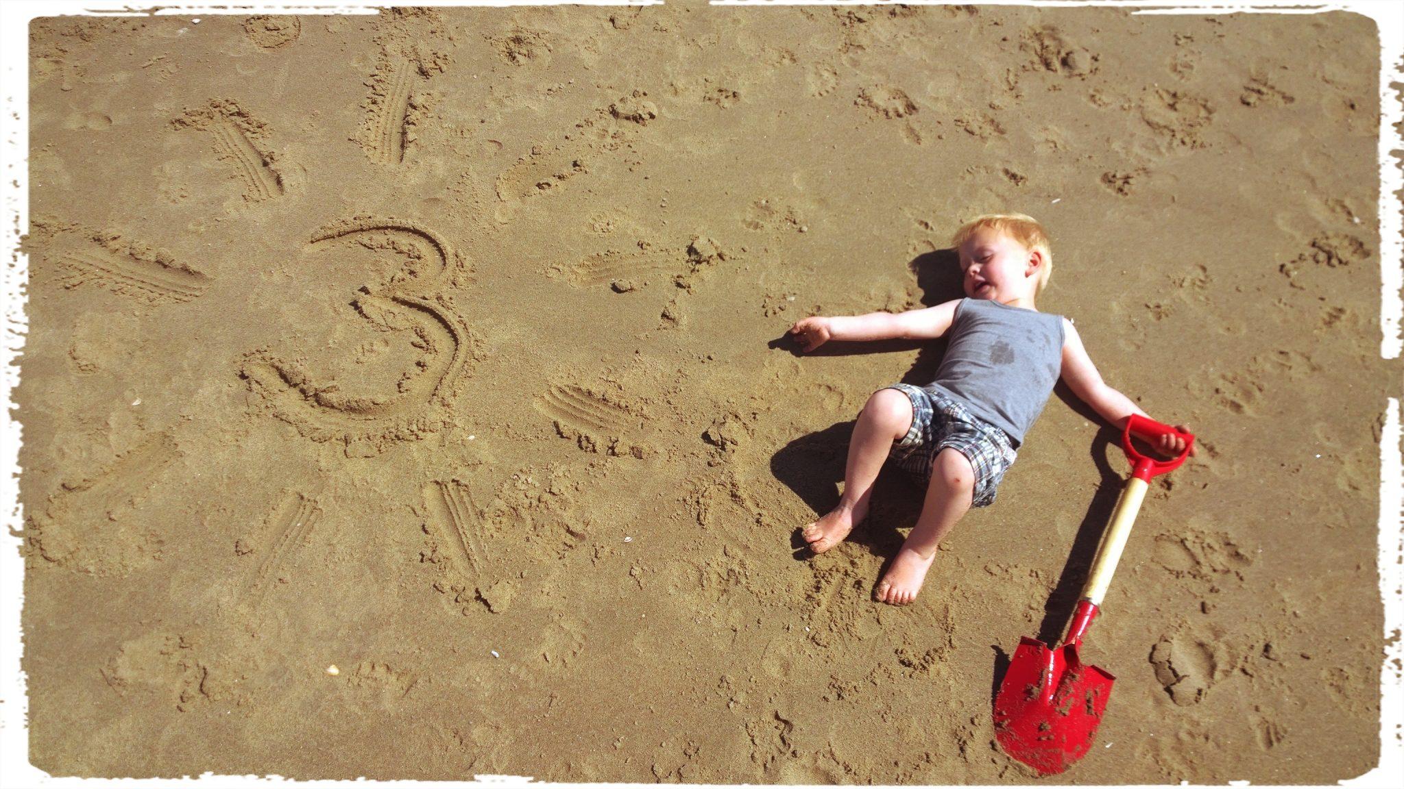 Leander 3 jaar strand