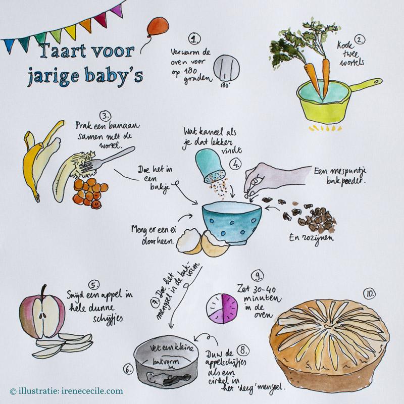 recept baby taart
